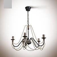 Люстра зальная, 5-ти ламповая в классическом стиле