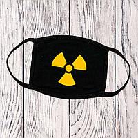 Маска с принтом черная радиация