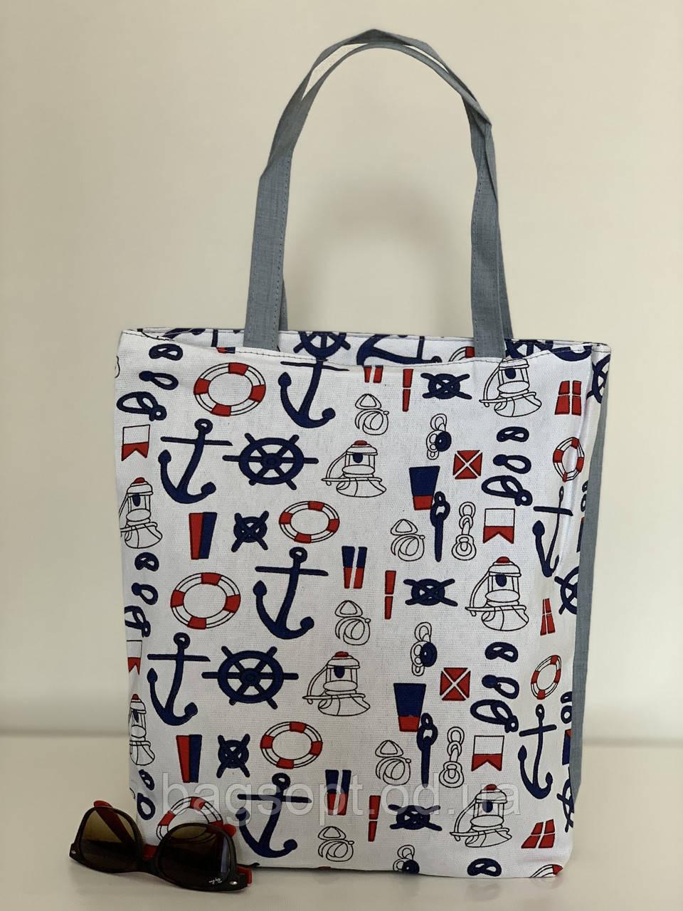 Пляжная сумка тканевая летняя