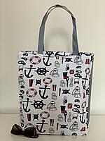 Пляжная сумка тканевая летняя, фото 1