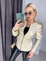 Куртка женская стильная кожаная в расцветках 42540