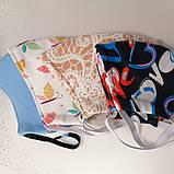 Многоразовая 3 слойная защитная  трикотаж тканевая маска маска для лица многоразовая детская женская мужская, фото 5