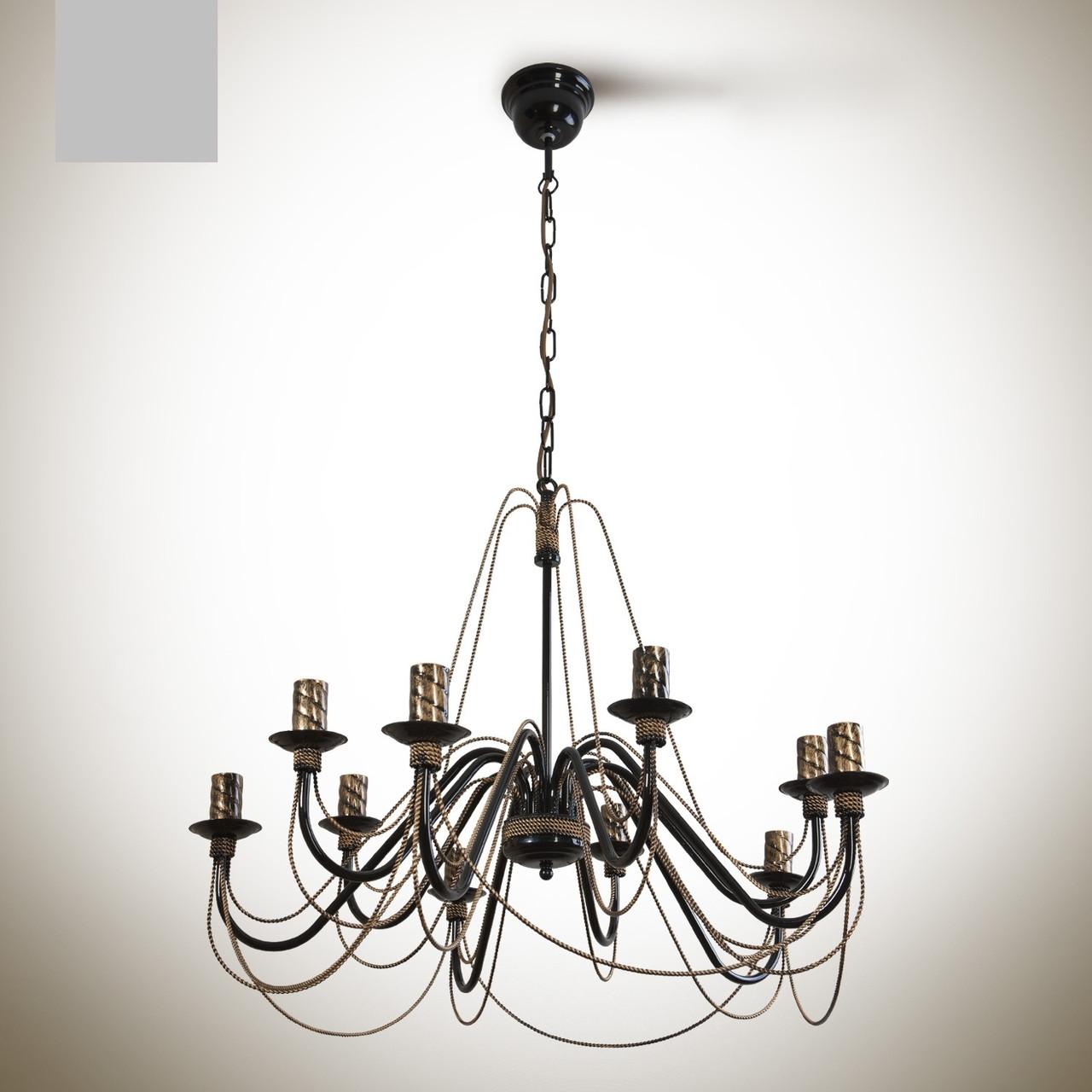 Люстра 10-ти ламповая, для большой комнаты 1210-1