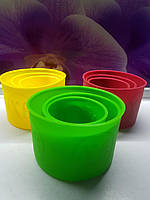 Набор силиконовых форм для выпекания куличей 3 шт., фото 1