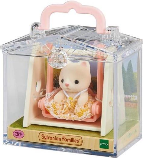 Ігровий набір Sylvanian Families Тварина-малюк в скриньці: Кошеня на гойдалках 5201