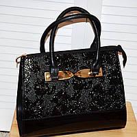 Новинка 2020 года! Элегантная черная сумка для современных женщин, на плечевом ремне, с цветочным принтом.