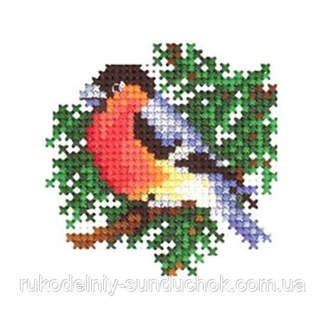 Набор для вышивки крестом Сделай Своими Руками Новогодние игрушки. Снегирь Н-21