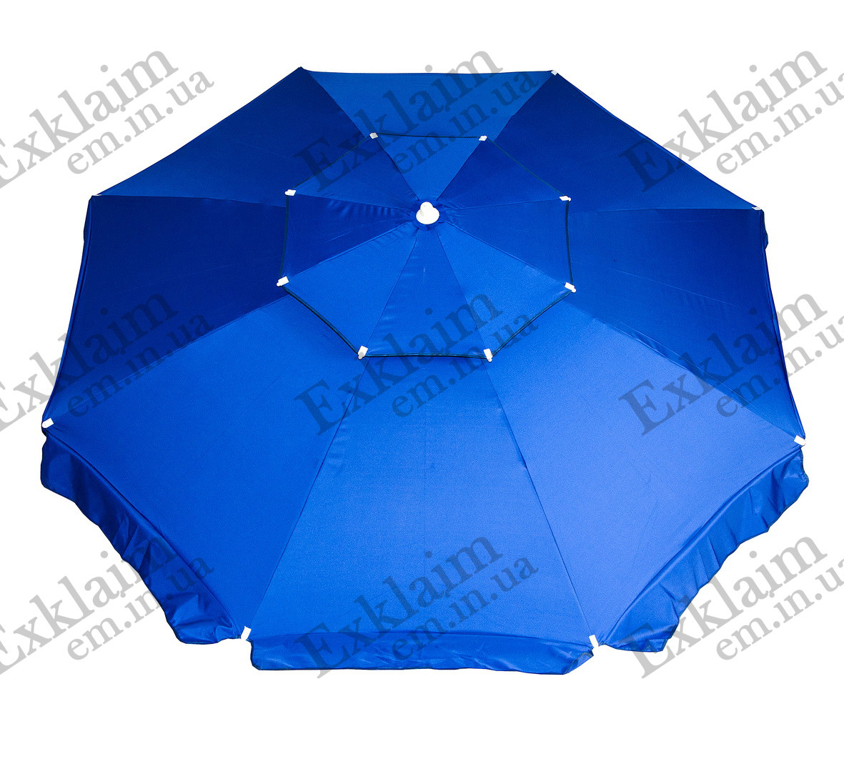 Зонт торговий 2,50 метра з подвійним клапаном (синій)