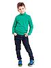 Водолазка (гольф) детская для девочек и мальчиков зеленая трикотажная хлопок Украина, фото 3
