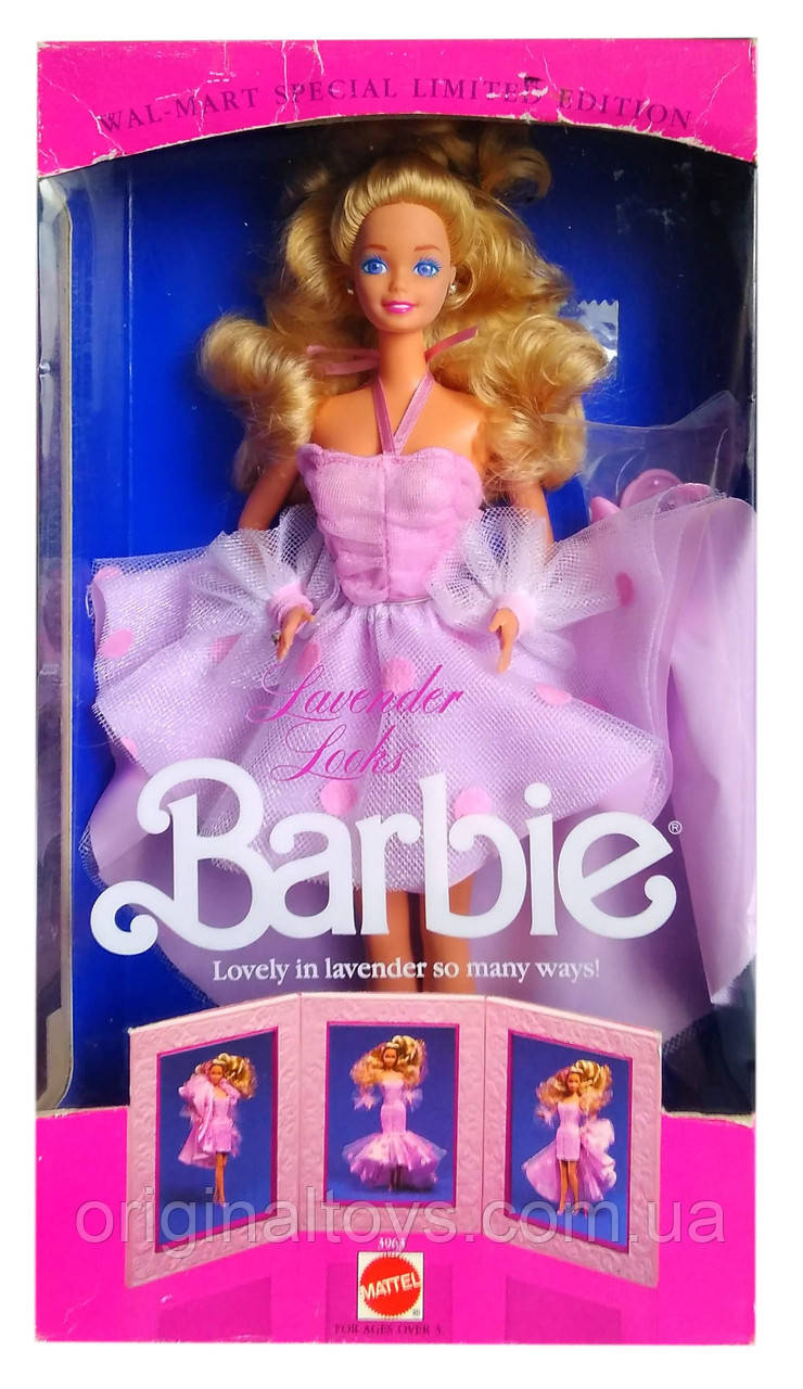 Колекційна лялька Барбі Barbie Lavender Looks 1989 Mattel 3963
