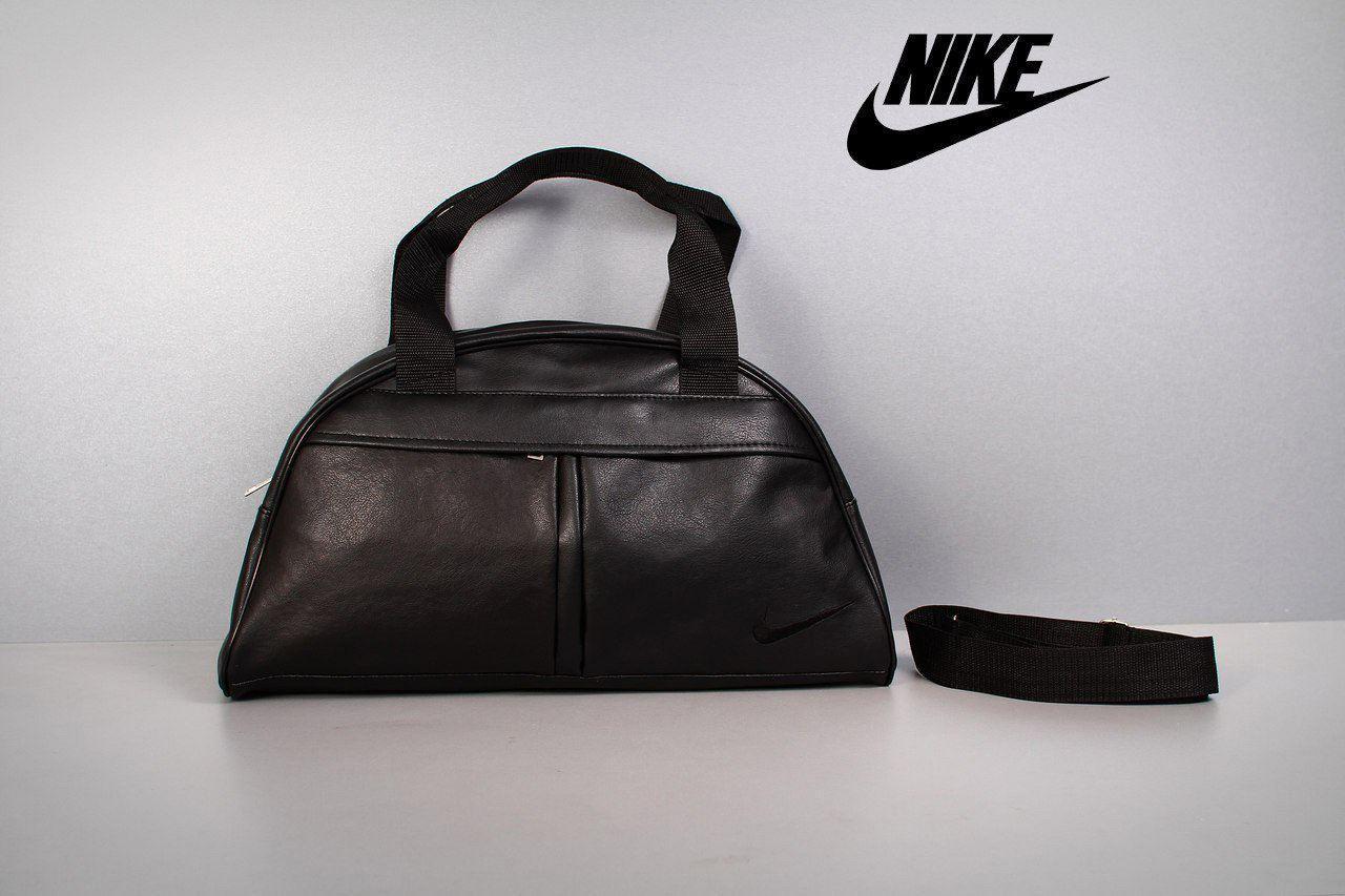 Фитнес-сумка, NIKE для тренировок, черная, кожзам