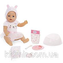 Беби Борн Кукла интерактивная Голубоглазая малышка Baby Born Zapf 916779