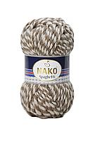 Толстая пряжа (25%-шерсть,75%-акрил; 100г/60м) NAKO Spaghetti 21366(беж.меланж)