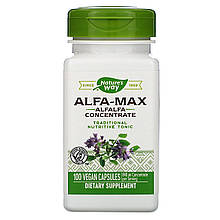 """Люцерна Nature's Way """"Alfa-Max Alfalfa Concentrate"""" концентрированная, 840 мг (100 капсул)"""