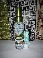 Набор спрей для тела и волос, бальзам для губ кокосовый орех (кокос) yves rocher (ив роше)