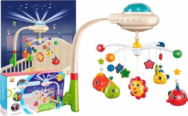 Детский музыкальный мобиль на кроватку с проектором  Metr+ 838-15