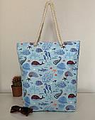 Тканевая сумка пляжная морская голубая Одесса 7 км