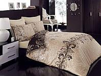 Набор постельного белья сатин печатный 200х220 Cotton box CEMILE BEJ
