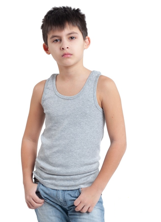 Купить Детская майка для мальчиков серая спортивная ...