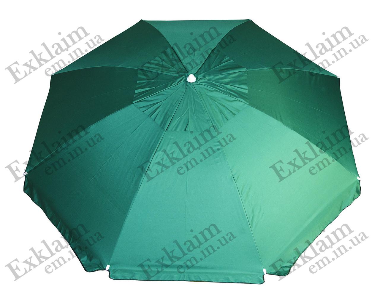 Садові парасольки 3 метри 8 спиць (зелений) з щільної тканини