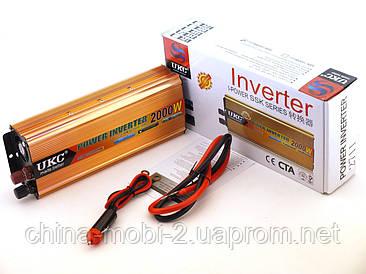 Преобразователь напряжения, инвертор UKC AC/DC 2711 24V-220V 2000W