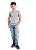 Дитяча майка для хлопчиків сіра спортивна трикотажна білизна бавовна широка бретелька Україна, фото 3