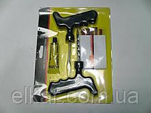 К-т для ремонту безкамерних шин (шило, шарожка, шнур,клей) ВЕЛИКИЙ