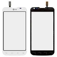 Сенсорный экран (touchscreen) для LG Optimus L90 Dual SIM D410, белый, оригинал