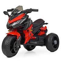 Детский мотоцикл на аккумуляторе M 4274EL-3 красный