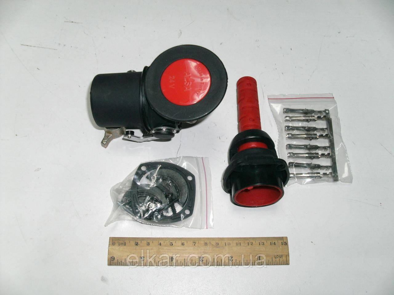 Електричний роз'єм  пластиковий  24В  03RF0703(папа)