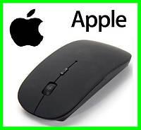 Беспроводная USB Мышка Дизайн APPLE Тонкая Для Компьютеров и Ноутбуков Чёрная