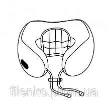 Подушка массажная для шеи U-Shaped Massage Pillow массажер для шеи Серо Коричневый, фото 3