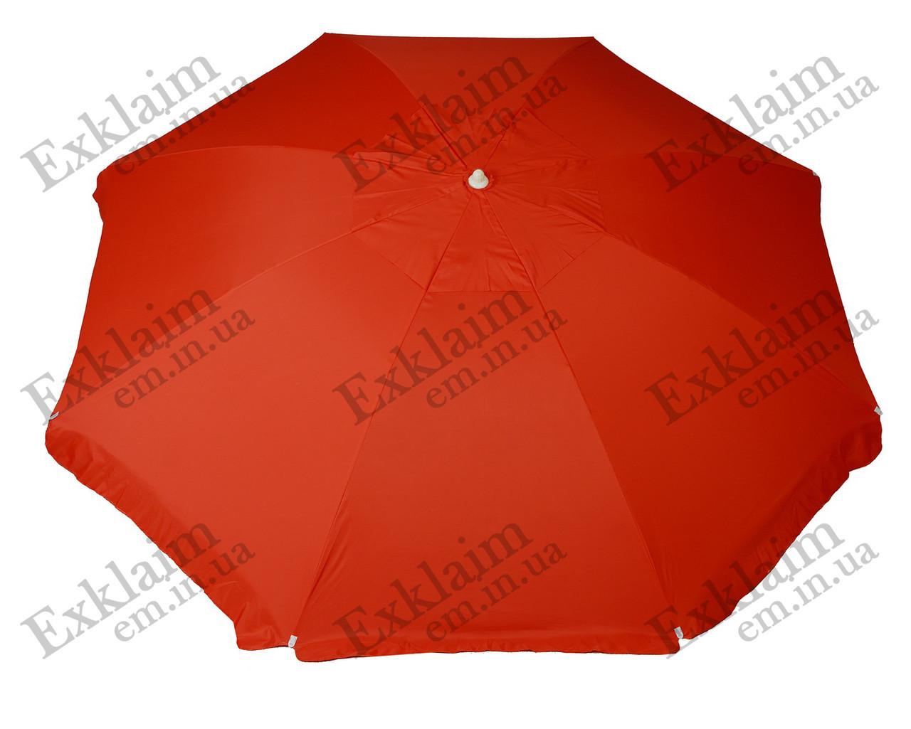 Садові парасольки 3.50 метра 6 спиць (червоні) з щільної тканини