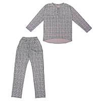 Костюм Sofushka Клетка 0483 (брюки+пуловер) разноцветный
