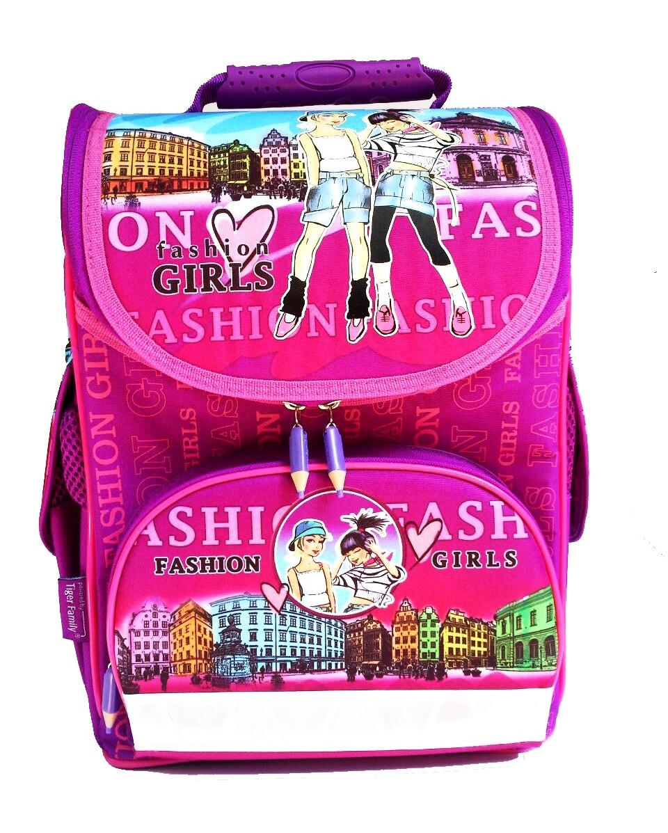 Ранцы школьные TIGER Девочки Fashion (34х34х21см) 12 литров, с ортопедической спинкой