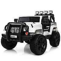 Детский электромобиль Jeep Wrangler M 3824EBLR-1 белый
