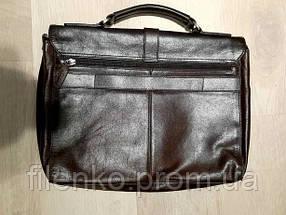 Чоловічий портфель Picard шкіряний Коричневий Б/У, фото 2