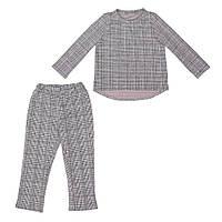 Костюм Sofushka Клетка 0487 (брюки+пуловер) разноцветный