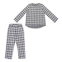 Костюм Sofushka Клетка 0486 (брюки+пуловер) разноцветный