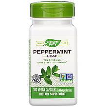 """Листья перечной мяты Nature's Way """"Peppermint Leaf"""" 700 мг (100 капсул)"""
