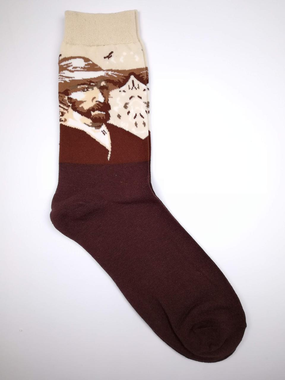 Мужские носки с принтом Винсента Ван Гог