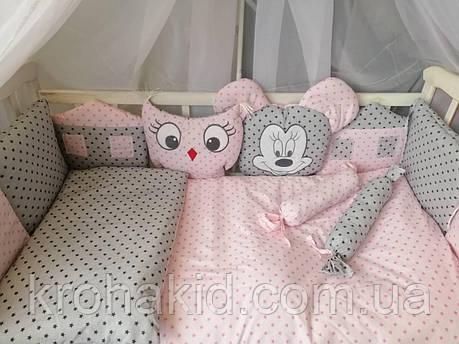 """Набор постельного белья в детскую кроватку/ манеж """"Зверята"""" - Бортики / Защита в кроватку, фото 2"""