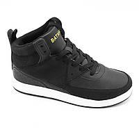 Демисезонные подростковые кроссовки высокие экокожа черные. Размер 37 и 39 Распродажа