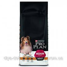 Сухой корм Purina Pro Plan Dog Medium Adult OptiHealth, 14 кг