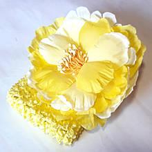 Пов'язка на голову дитяча великий квітка, жовта