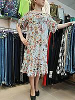 """Платье женское большого размера """"Мята/шифон"""""""
