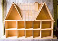 Полка домик для миниатюр