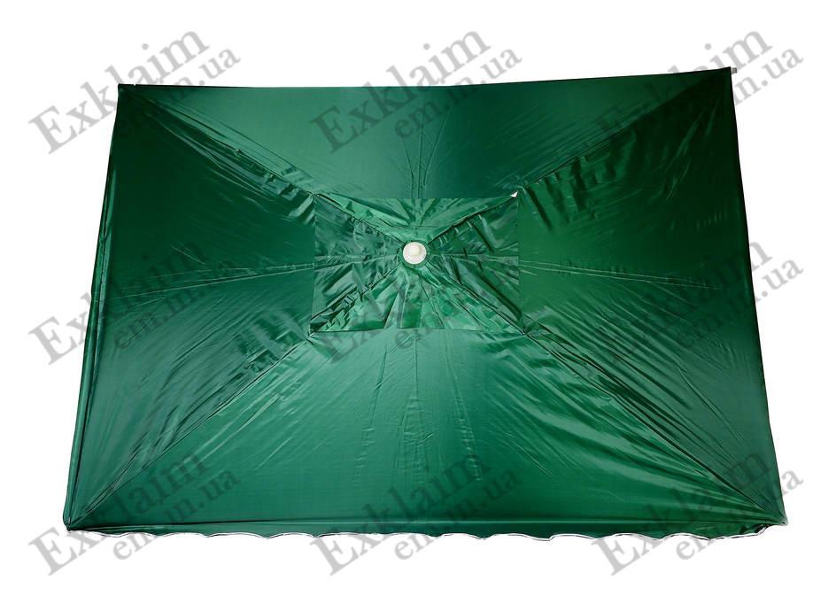 Зонт садовий 2х2 метра (зелений) з клапаном