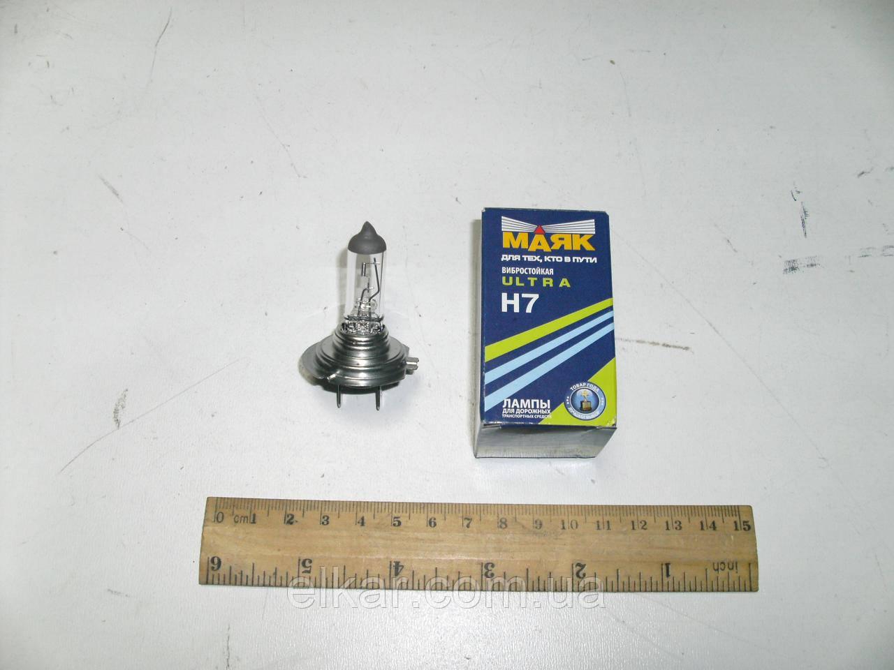 Лампа галогенна   АКГ12-55 Н7 (Маяк) вібростійка