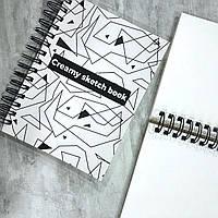 Блокнот-Скетчбук А5 160 стр. 160 г/м2 з чистими сторінками